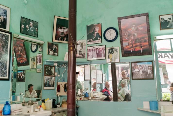 Barbershop in Besiktas on the European side of Istanbul