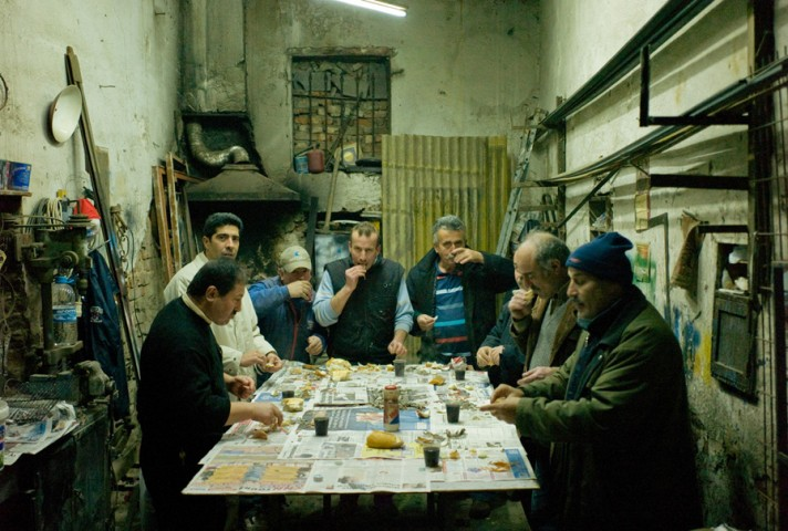 Men eating hamsi in Uskudar on the Asian side of Istanbul
