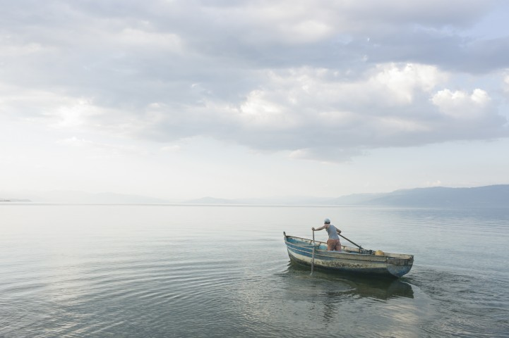 Meer van Ohrid, Albanië