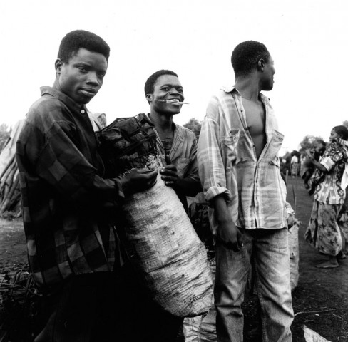 charcoalburners in chimwembe, zambia 1998